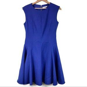 Eliza J Cobalt Blue Sleeveless Fit and Flare Dress
